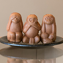 人形焼 三猿